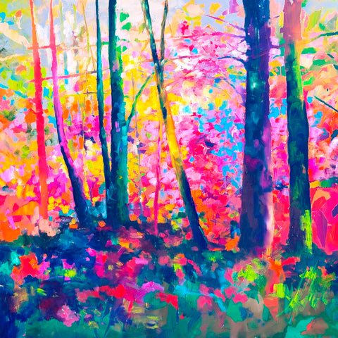 *** NEW *** 'Rainbow Trees' Print Hand Signed By Julie