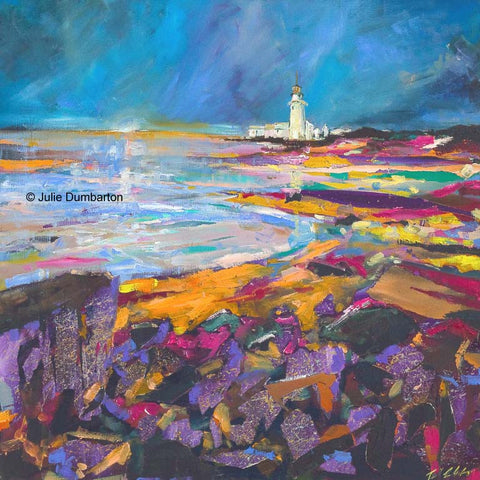 'Rocks by the Lighthouse' Print Hand Signed By Julie