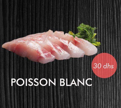 POISSON BLANC 4 Pcs