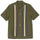 Striped Knit Panel Shirt - Olive