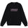 3D Collegiate Embroidered Crew - Black