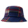 Big Logo Plaid Bucket Hat - Blue