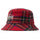 Big Logo Plaid Bucket Hat - Red