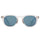 ROMEO SUNGLASS - TRANSLUCENT CLEAR/BLUE MIRROR