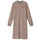 May Jacquard Rib Dress - Taupe
