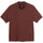 Short Sleeve Embroidered Mock - Brown