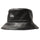Contrast Stitch Bucket Hat - Black