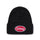 Oval Patch Cuff Beanie - Black