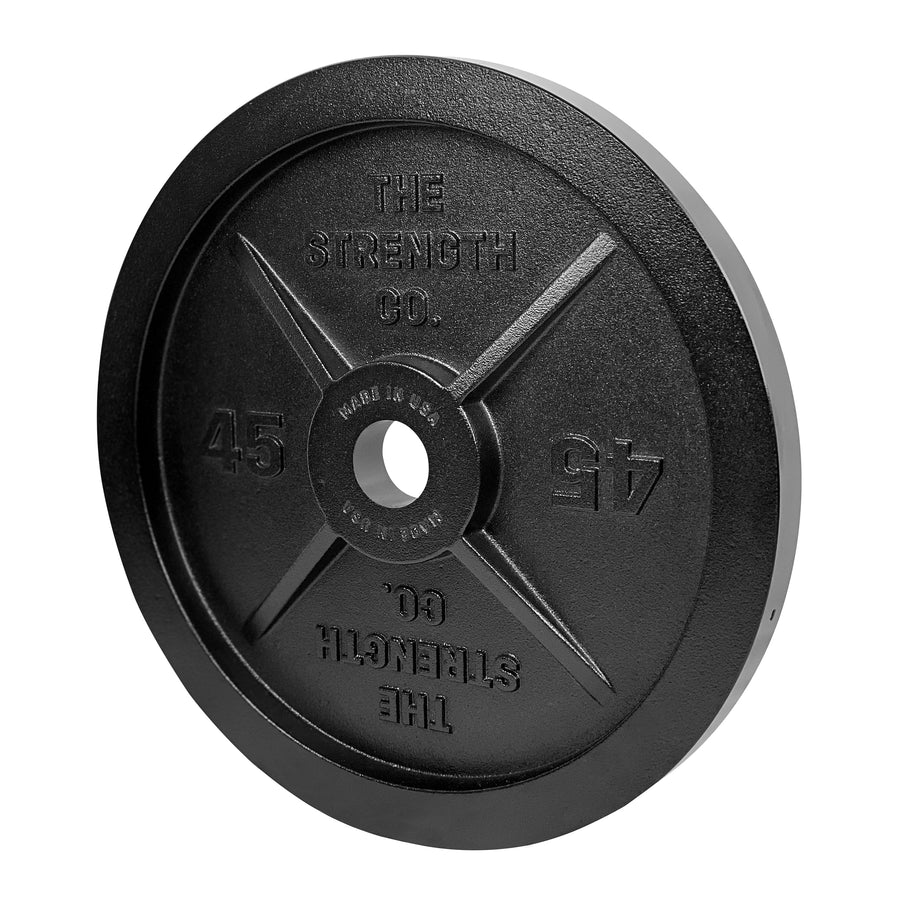 Olympic Iron Barbell Plates - Made In USA