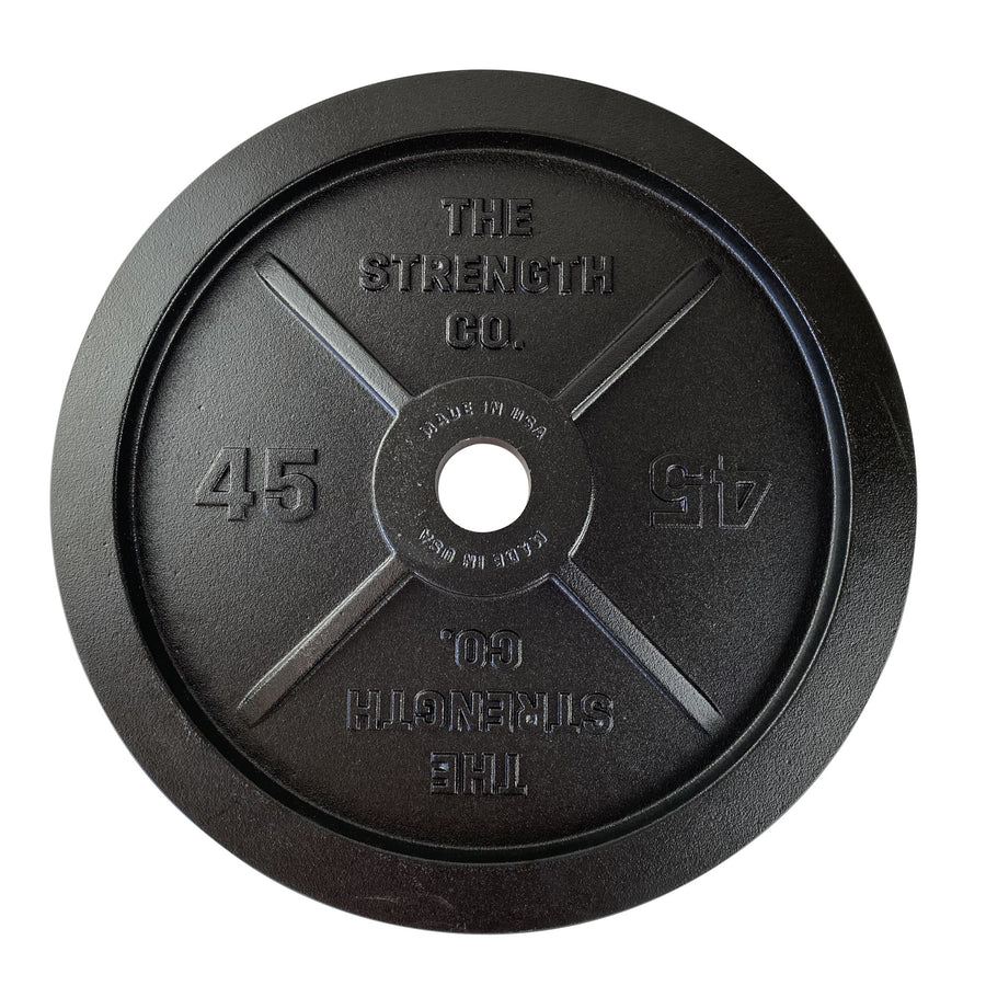 USA olympic iron barbell plate 45lb