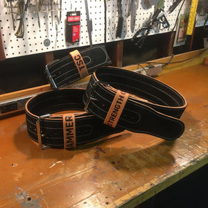 Leather Weightlifting Belt - Handmade in USA