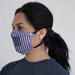 American Flag Cotton Face Mask (multiple colors)
