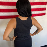 Made in USA Heather Grey Tank Top