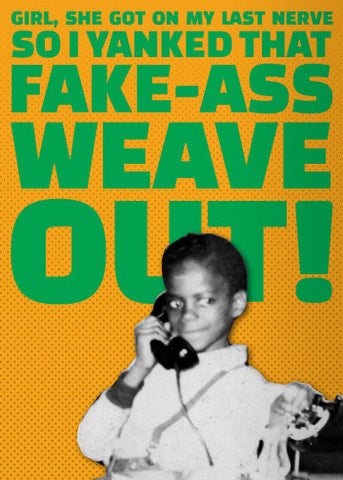 Funny black african american birthday christmas greeting cards fake ass weave m4hsunfo