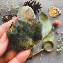 Load image into Gallery viewer, Labradorite Crystal Slab (Hamsa Hand)