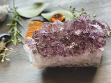 "Load image into Gallery viewer, Amethyst Crystal Cluster (Medium 3.25"")"