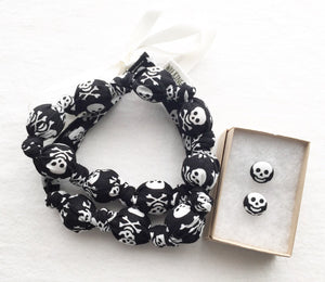Skulls Fabric Teething Statement Necklace by Wee Kings