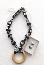 Load image into Gallery viewer, Skulls Teething Ring Statement Necklace by Wee Kings