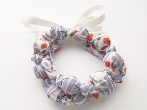 Organic Lavender Floral Breeze Fabric Teething Nursing Necklace by Wee Kings