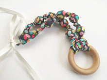Load image into Gallery viewer, Love Bug Fabric Teething Ring Nursing Necklace by Wee Kings
