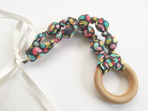 Love Bug Fabric Teething Ring Nursing Necklace by Wee Kings
