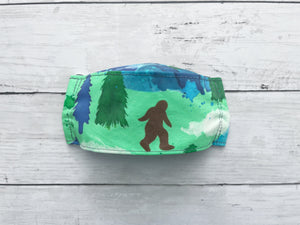 Premium Face Cover Watercolor Sasquatch/Bigfoot