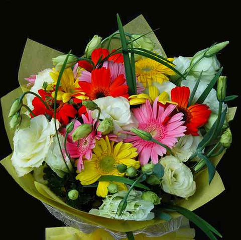 Shop online for a Bouquet of Gerberas and Lisianthus! Delivers in the Philippines! Sending flowers to your loved ones made easy!