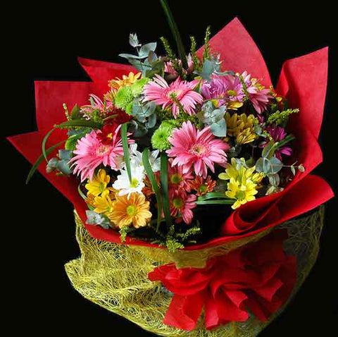 Shop online for a Bouquet of Gerberas and Spray Chrysanthenums. Delivers in the Philippines! Sending flowers to your loved ones made easy!