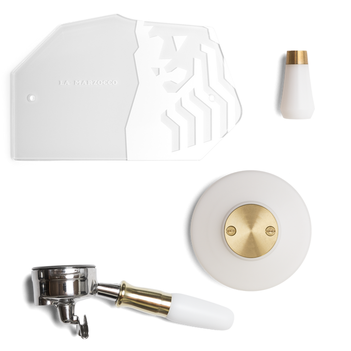 GS3 Customization Kit AV – White & Brass