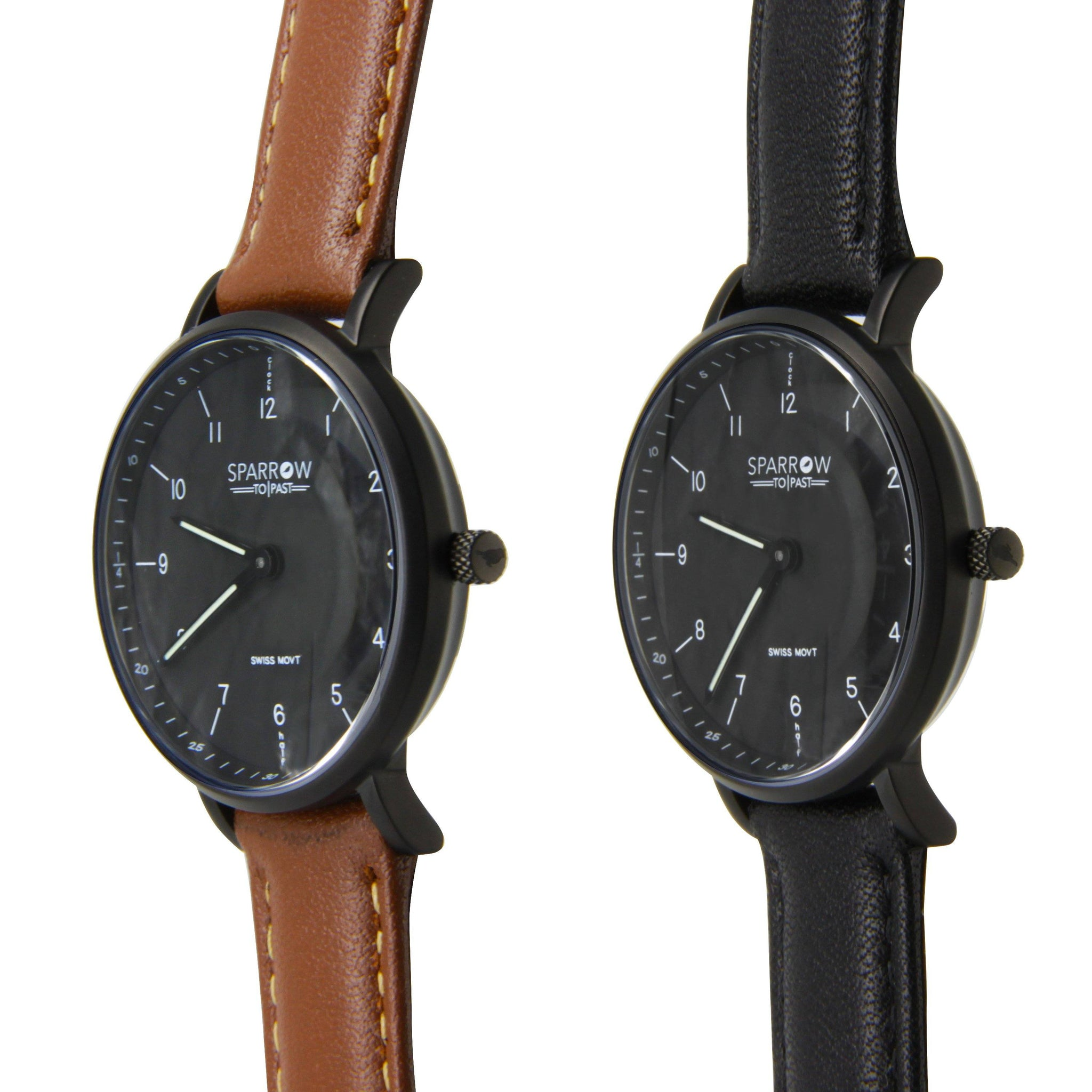 black sparrow with brown face side talking leather watches products bands matte watch the boys and learner
