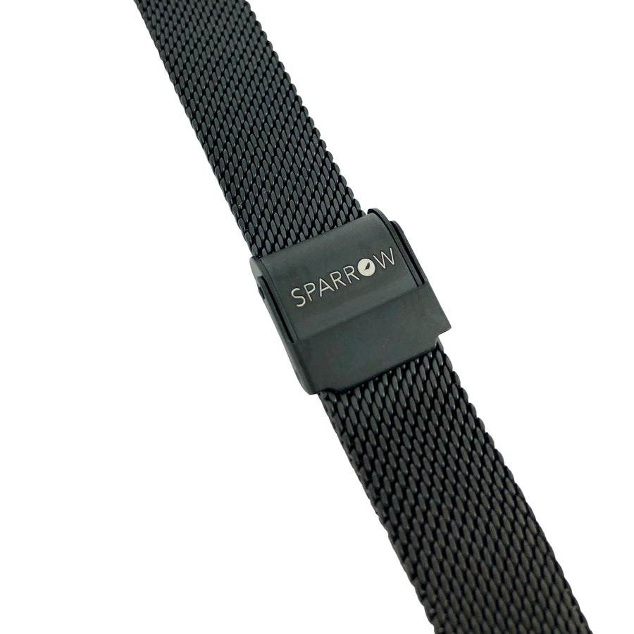 Kids Black Mesh Band-Watch Band-Sparrow Watches