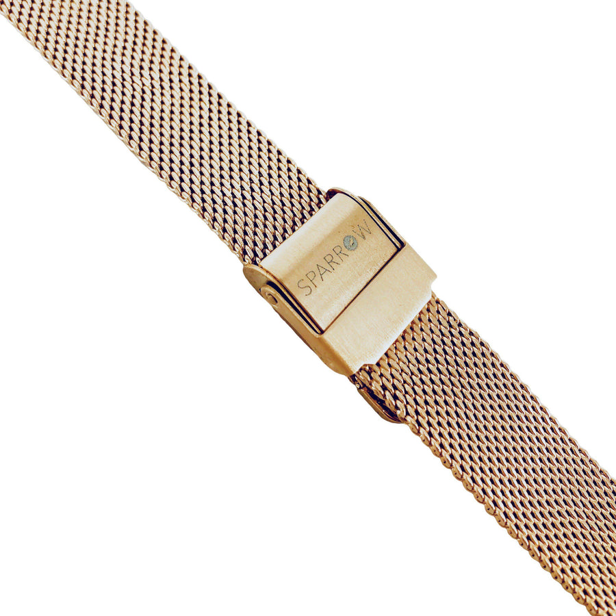 Kids Rose Gold Mesh Band-Watch Band-Sparrow Watches