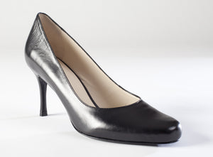 Adelia Black Leather Pump