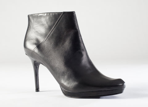 Beatriz Platform Bootie - Black Leather