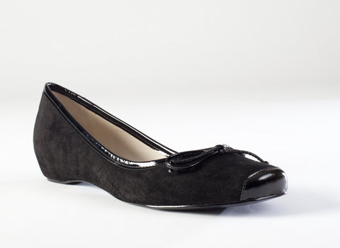 Graca - Black Suede Flat