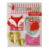 Meri Meri, Valentine's Animal Card Set - Sunday in color