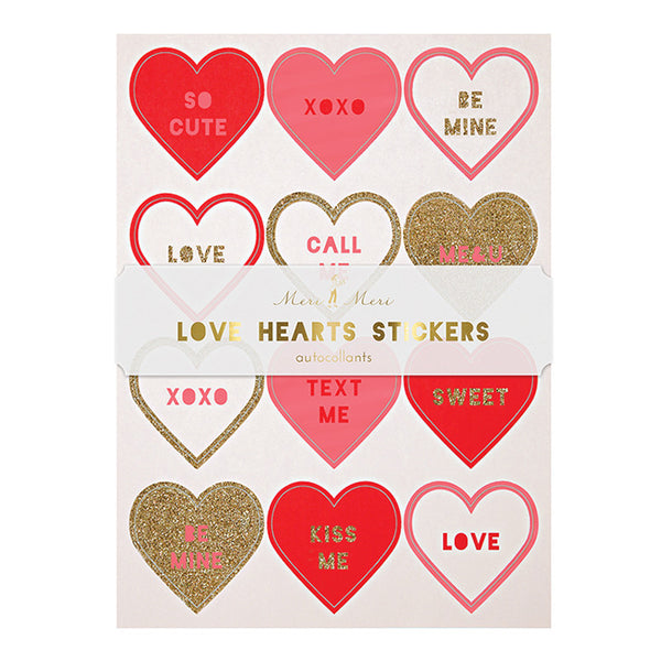 Meri Meri, Love Heart Stickers - Sunday in color