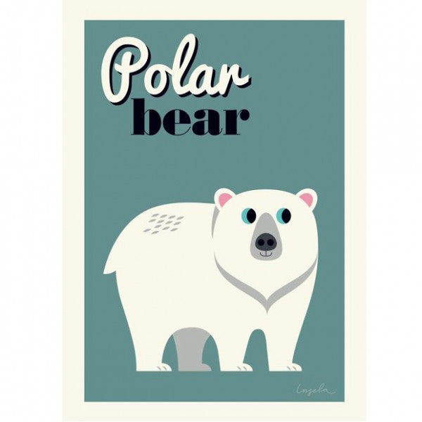 OMM Design, OMM Design polar bear poster - Sunday in color
