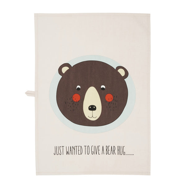 Oyoy, Bear organic cotton tea towel - Sunday in color