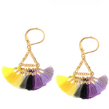 Lilu Tassel Earrings Shashi | Sunday in color