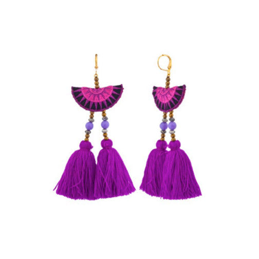Camilla Drop Earrings Fuchsia