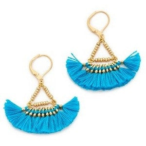 Lilu Tassel Earrings in Turquoise