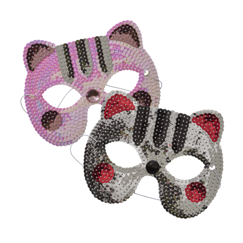 Cat Sequin party masks - Choose your favorite