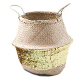 Gold or Silver Sequin Belly Basket