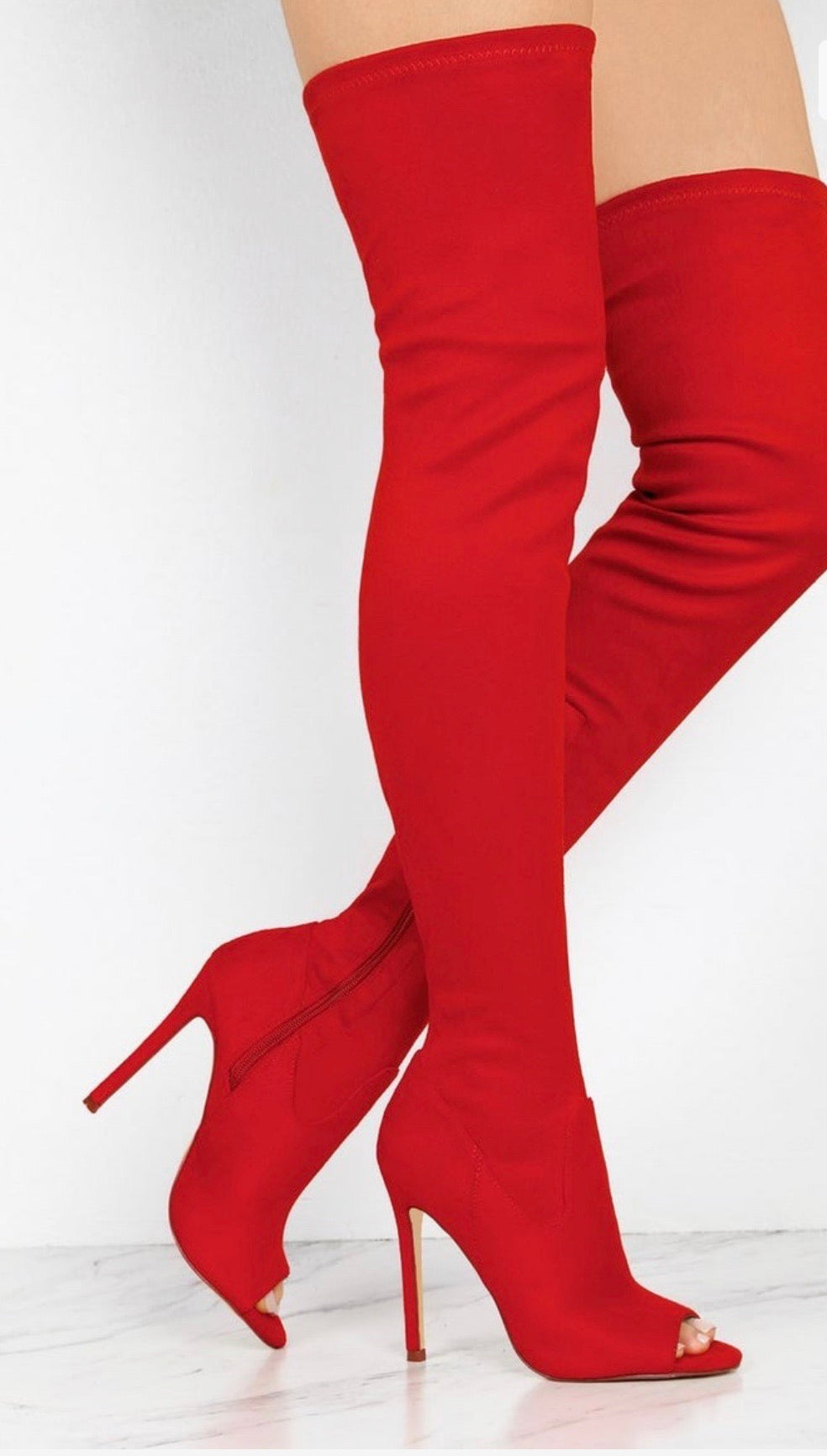 "Lori Thigh Boot ""Red"""
