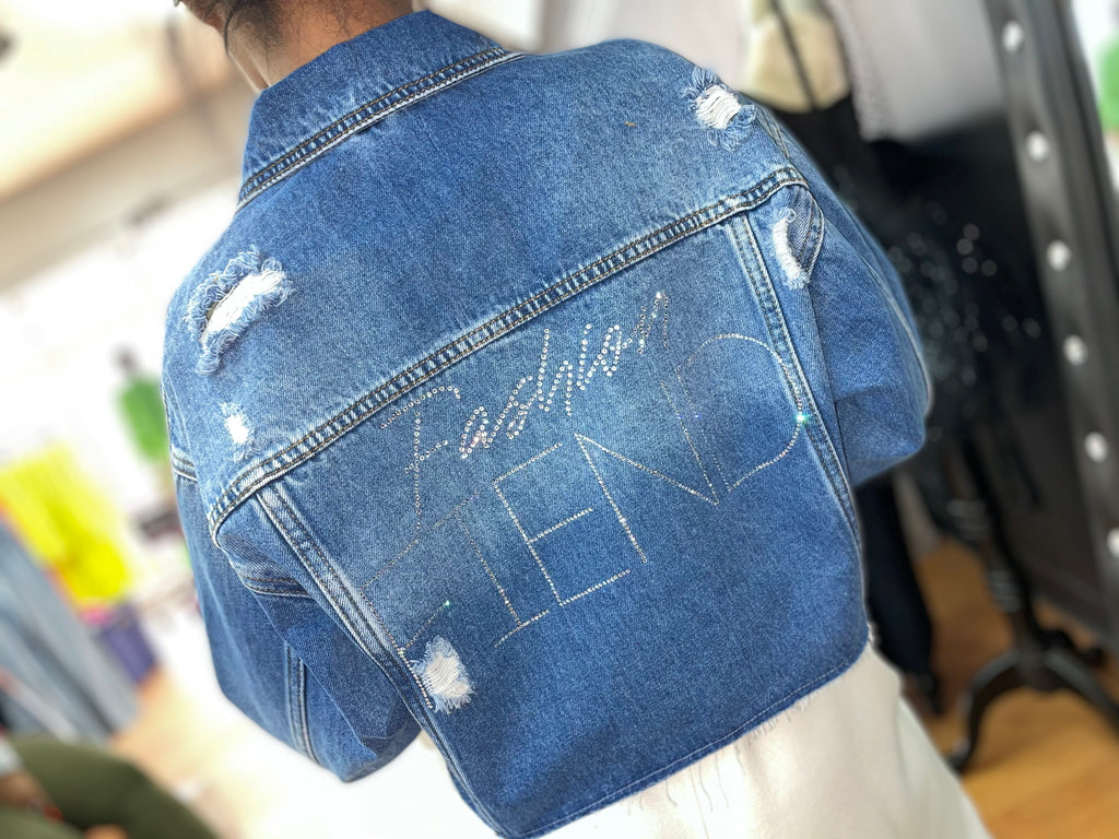 Fiend Denim Crop Jacket