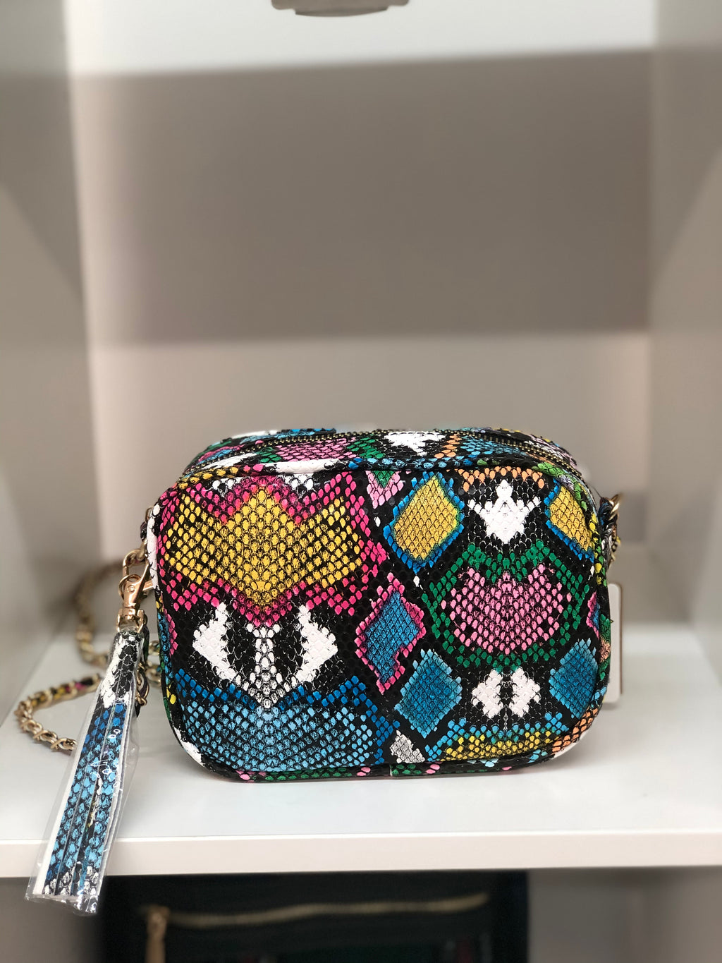 Snake Crossbody Handbag
