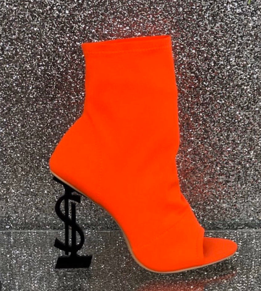 "Currency Bootie ""Neon Orange"""