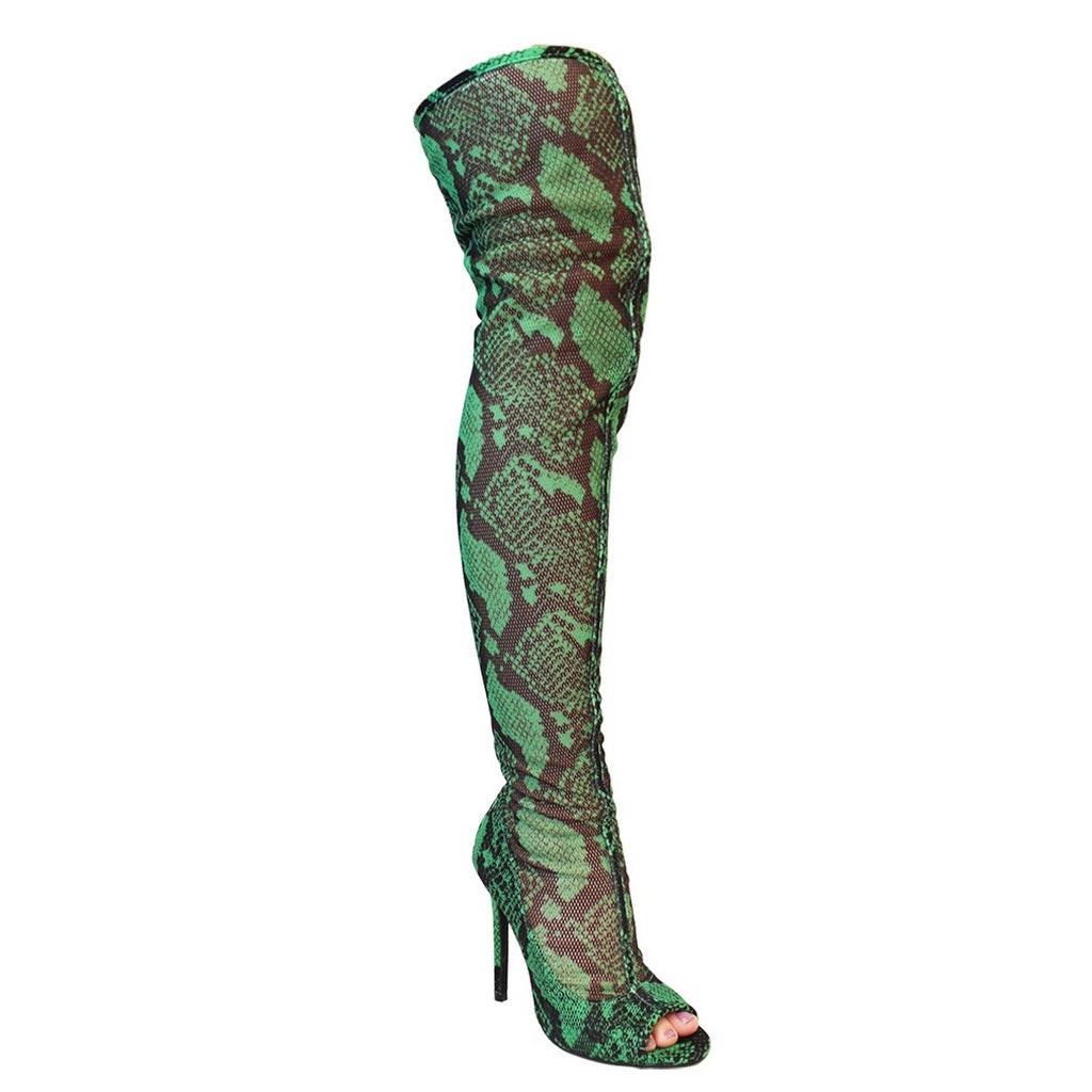"J.Lo Thigh Boot ""Snake"""
