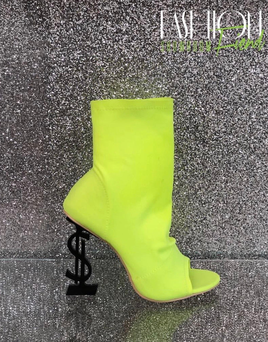 "Currency Bootie ""Neon Yellow"""